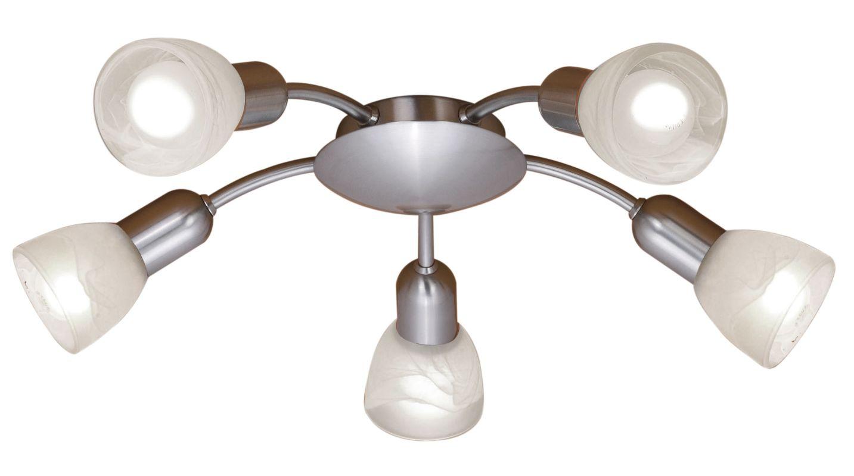Eglo 27325 Dakar Five-Bulb Chandelier Matte Nickel Indoor Lighting