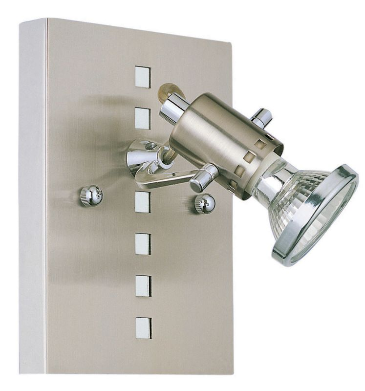 Eglo 82242 Fizz Single-Bulb Wall Sconce Nickel and Chrome Indoor