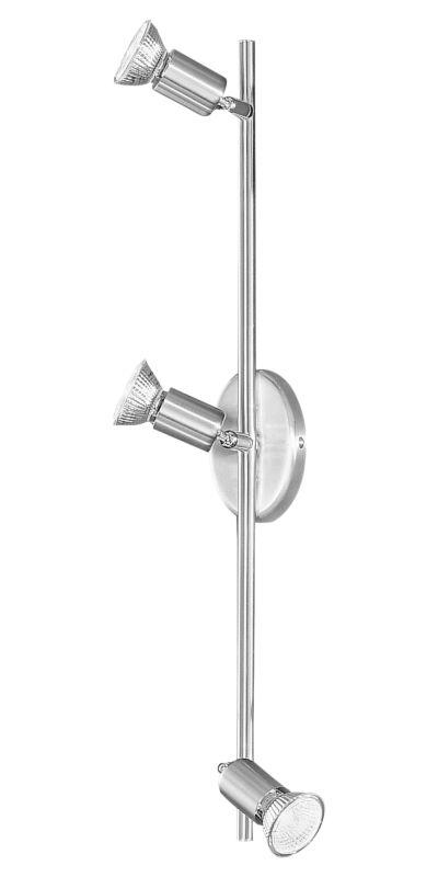 "Eglo 83048 Buzz 3 Light 6"" Tall Adjustable Track Light Nickel and"