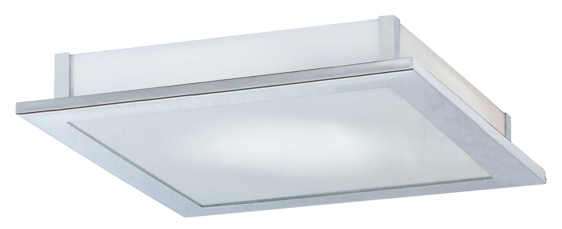 Eglo 85094 Auriga Single-Light Semi-Flush Fixture Chrome Indoor