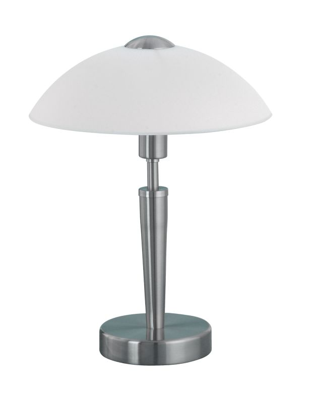 Eglo 85104 Solo 1 Single-Bulb Touch-Dimming Table Lamp Nickel and
