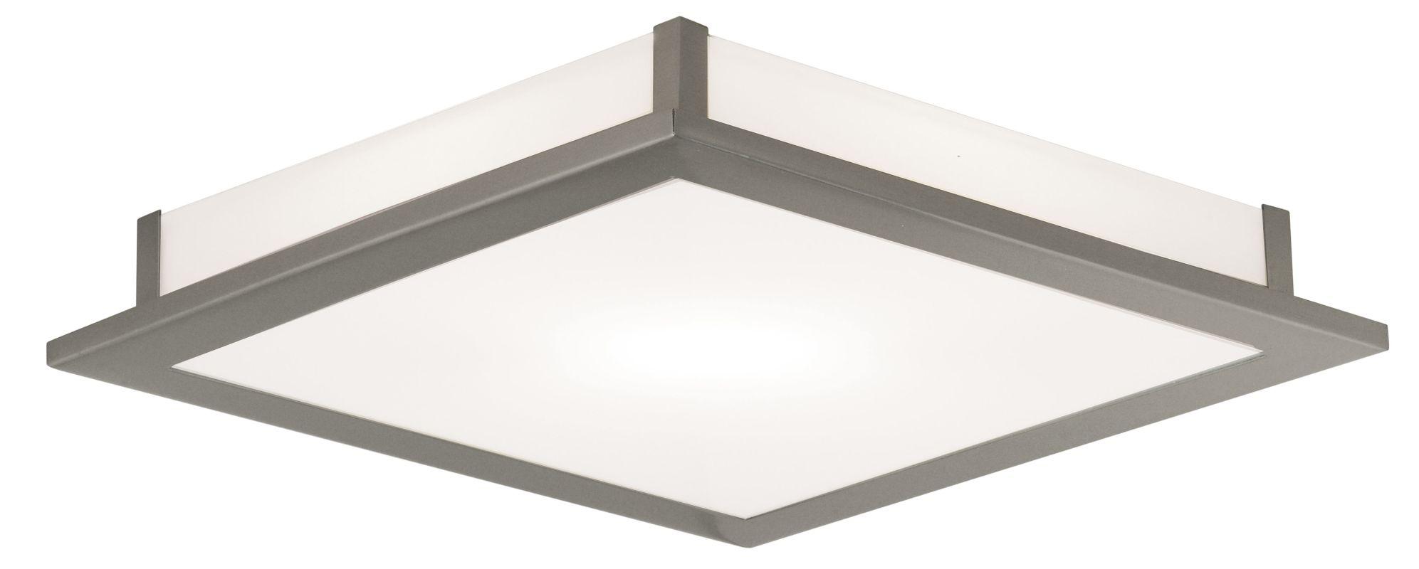 Eglo 86239 Auriga Single-Light Semi-Flush Fixture Matte Nickel Indoor