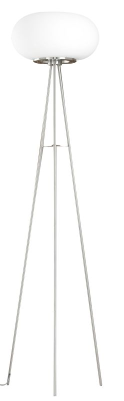 Eglo 86817 Optica Two-Bulb Floor Lamp Matte Nickel Lamps Tripod Lamps