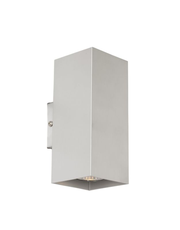 Eglo 87019 Madras Two-Bulb Wall Sconce Brushed Aluminum Indoor