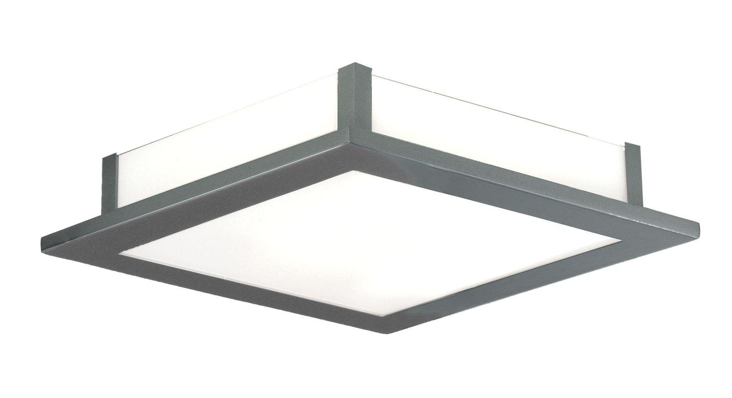 Eglo 88088 Auriga Single-Light Semi-Flush Fixture Matte Nickel Indoor