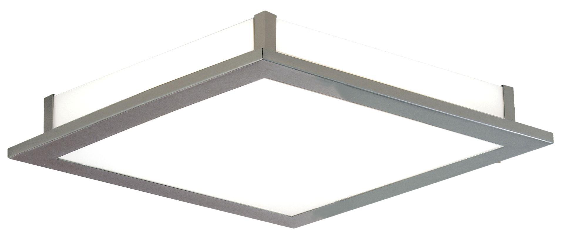Eglo 88089 Auriga Single-Light Semi-Flush Fixture Matte Nickel Indoor
