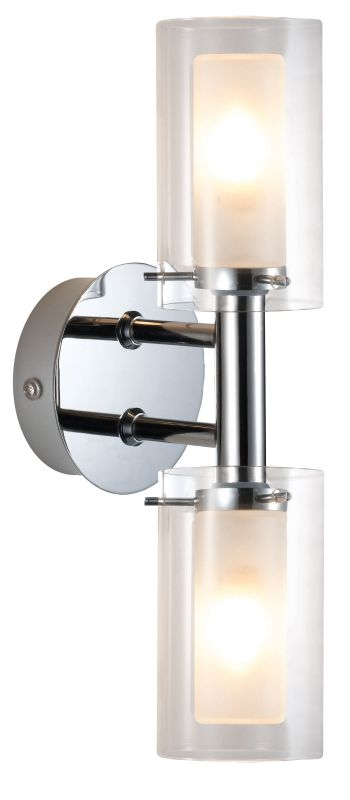 Eglo 88194 Palermo Two-Bulb Wall Sconce Chrome Indoor Lighting Wall