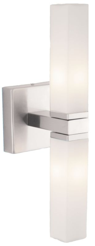 Eglo 88284 Palermo Two-Bulb Wall Sconce Matte Nickel Indoor Lighting
