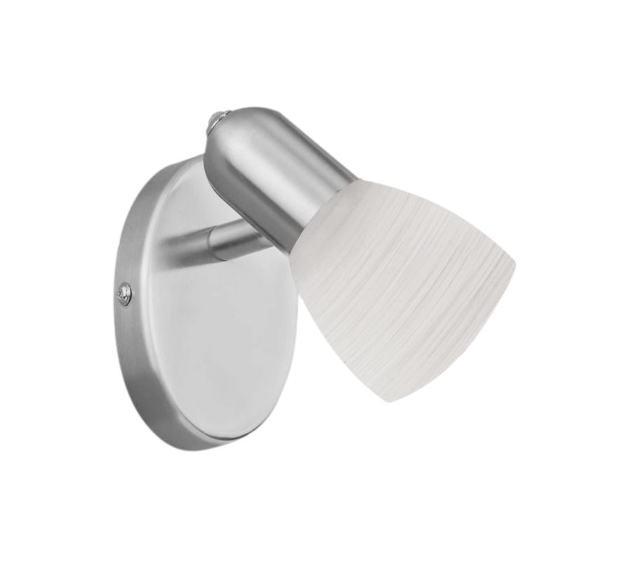 "Eglo 88472 Dakar Single Light 5"" Wide Wall Sconce with White Glass"