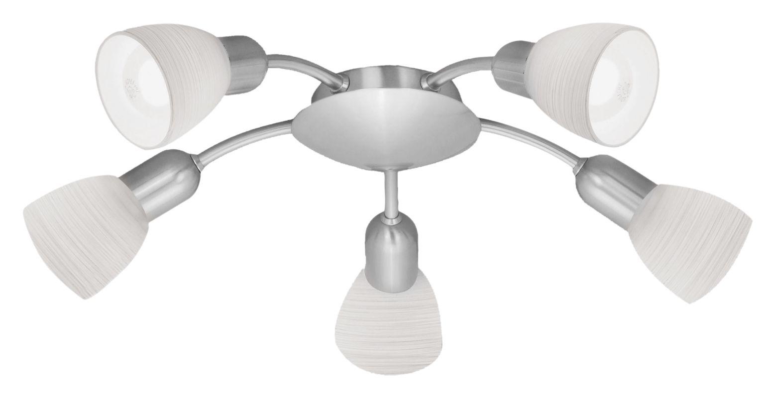 Eglo 88476 Dakar 1 Five-Bulb Chandelier Matte Nickel Indoor Lighting