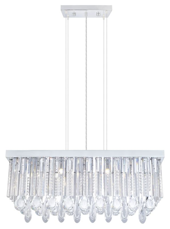 Eglo 93422 Calaonda 7 Light 1 Tier Crystal Chandelier Chrome Indoor
