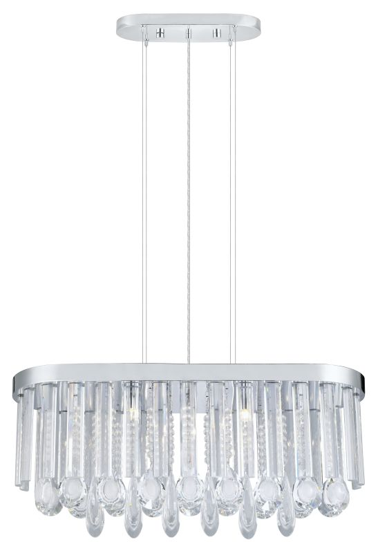 Eglo 93424 Calaonda 7 Light 1 Tier Crystal Chandelier Chrome Indoor