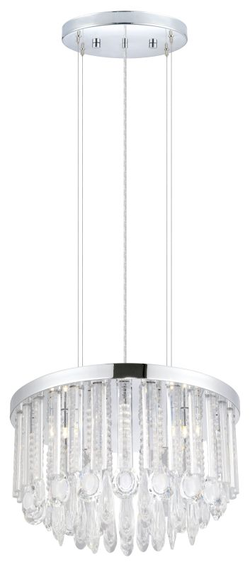 Eglo 93425 Calaonda 7 Light 1 Tier Crystal Chandelier Chrome Indoor