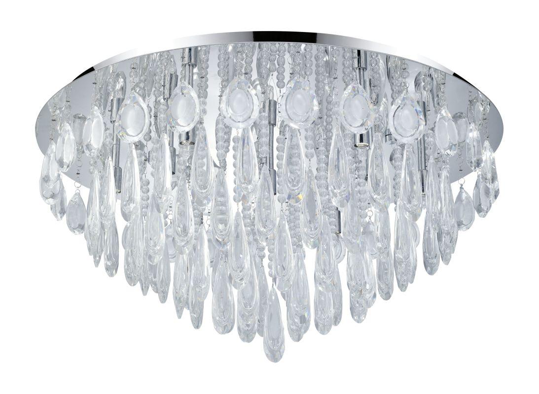 Eglo 93434 Calaonda 10 Light Flush Mount Ceiling Fixture Chrome Indoor