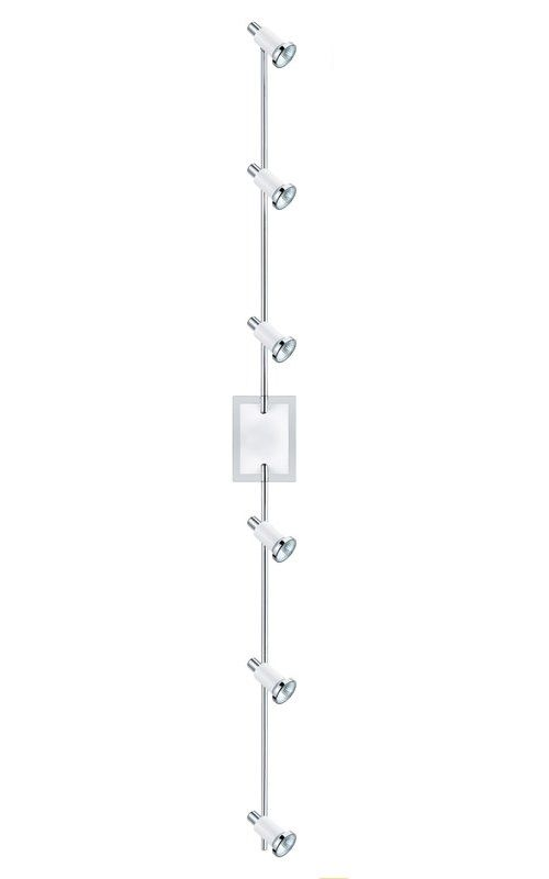 "Eglo 200121A Eridan 6 Light 67"" Tall Adjustable Track Light Chrome and"