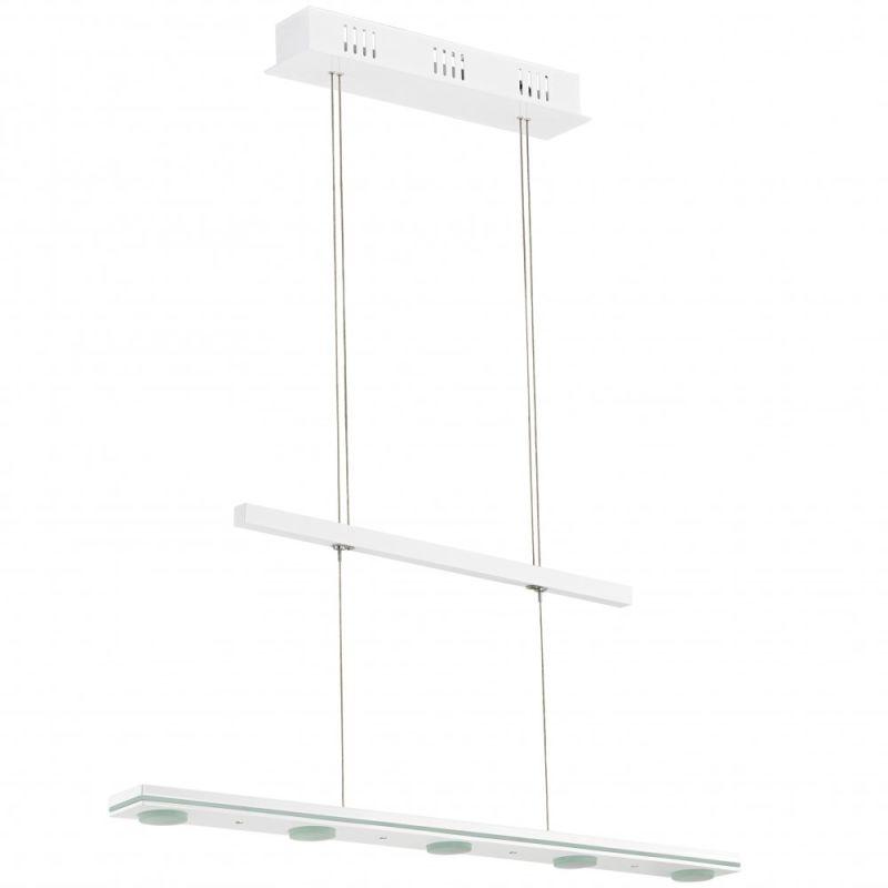 Eglo 91076A Salvo 5x24W LED Linear Adjustable Chandelier in Gloss