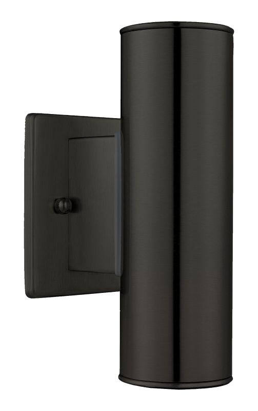 Eglo 200033 Riga 2 Light Outdoor Wall Sconce Matte Black Outdoor