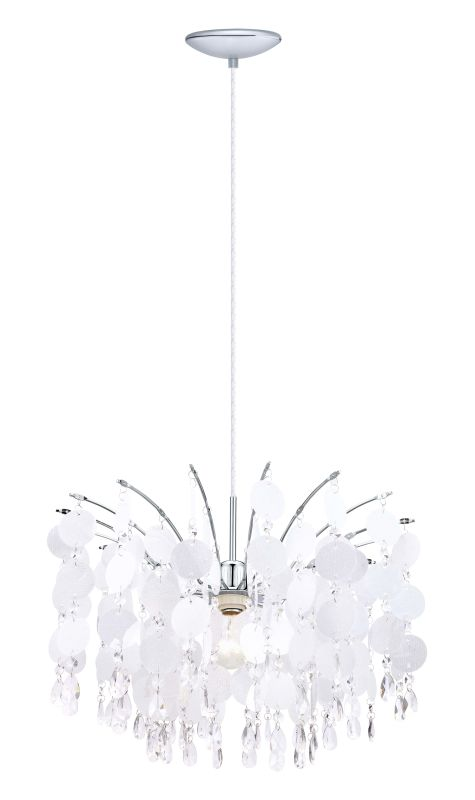 Eglo 200301 Fedra 1 Light 1 Tier Crystal Chandelier Chrome Indoor