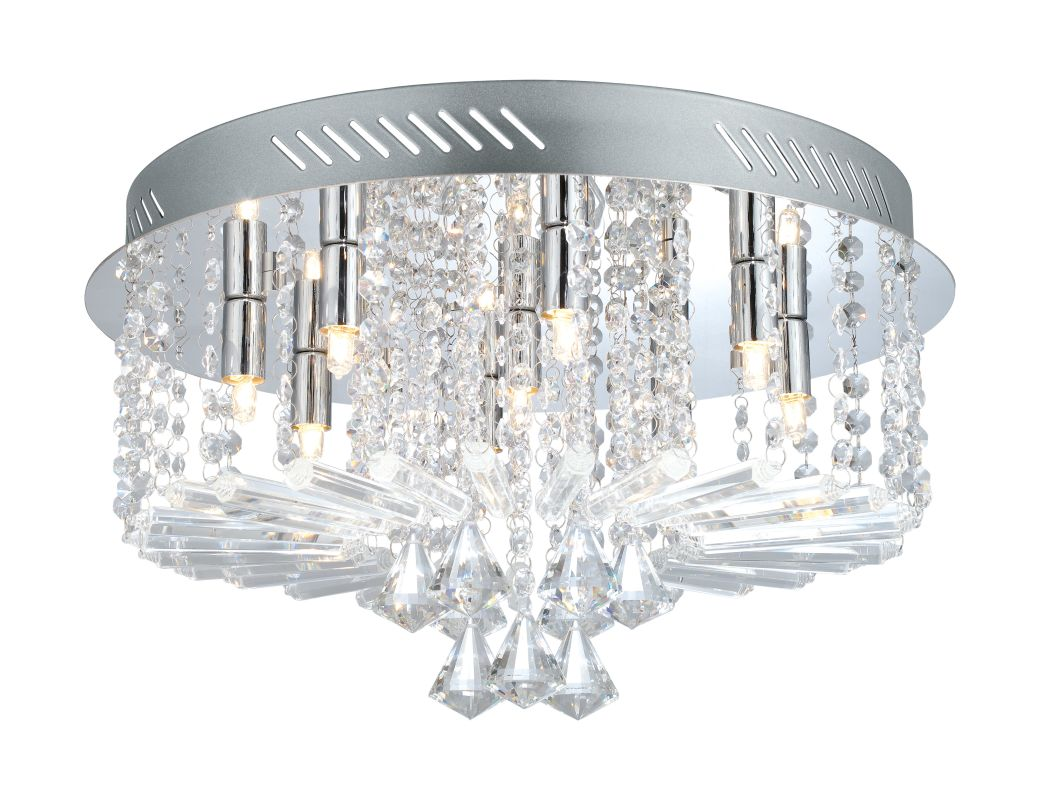 Eglo 200388 Ornella 1 9 Light Flush Mount Ceiling Fixture Chrome