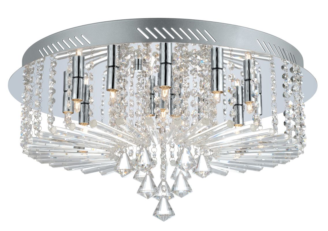 Eglo 200389 Ornella 1 15 Light Flush Mount Ceiling Fixture Chrome