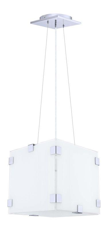 Eglo 91872 Alea 1 Light Foyer Pendant with Coated White / Clear Glass