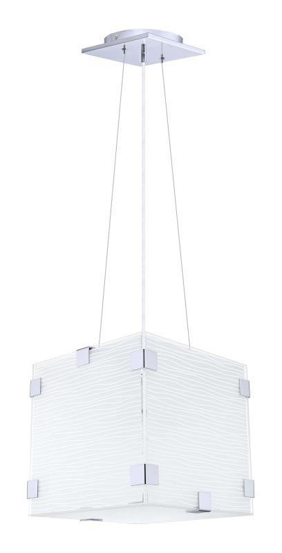 Eglo 91874 Alea 1 Light Foyer Pendant with White / D�©cor Shade Chrome