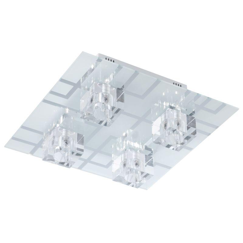 Eglo 91965 Ramazzino 4 Light LED Flush Mount Ceiling Fixture Opal