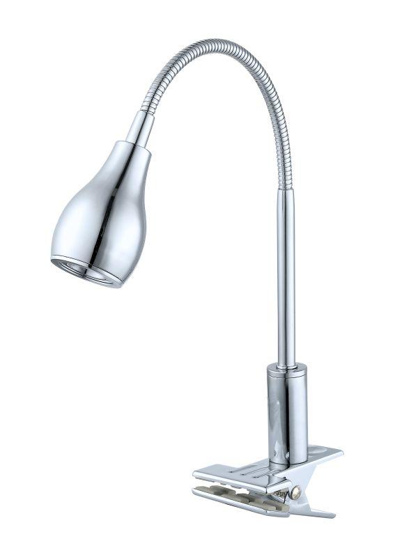 Eglo 92276 Naira 1 Light LED Clip-on Swing Arm Table Lamp Chrome Lamps