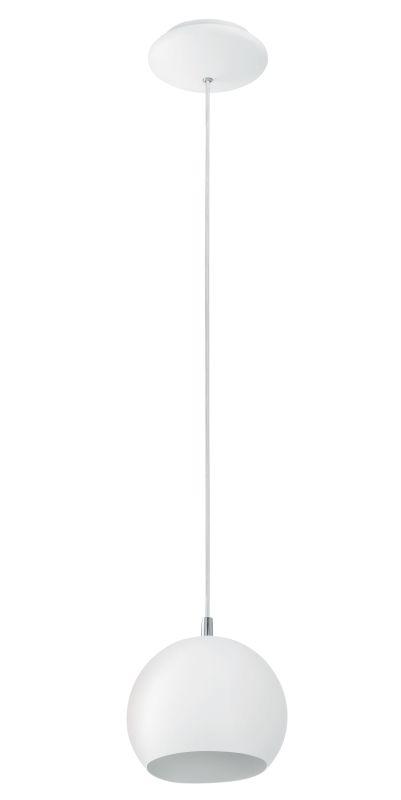 Eglo 92357 Petto 1 Light Foyer Pendant with White Finish Steel / White