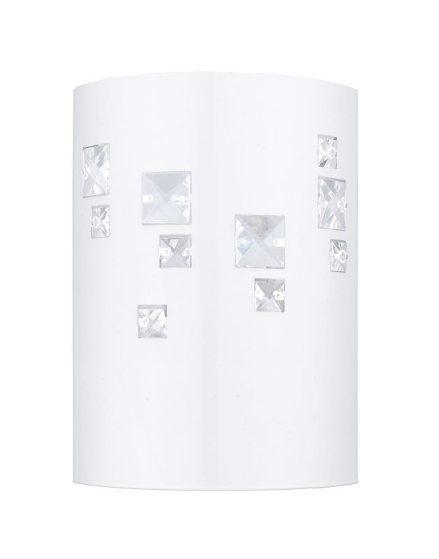 Eglo 92659 Pigaro 1 Light Wall Sconce Glossy White Indoor Lighting