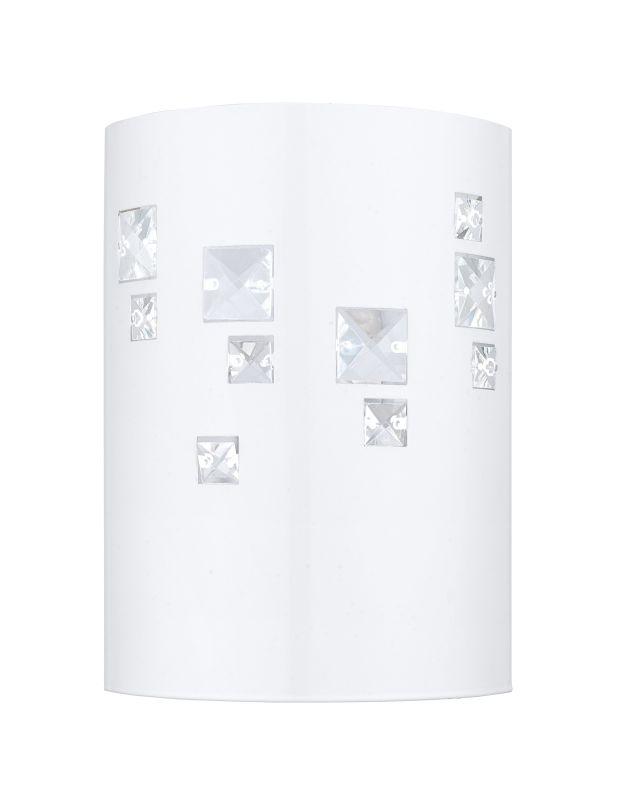 Eglo 92659 Pigaro 1 Light Wall Sconce Glossy White Indoor Lighting