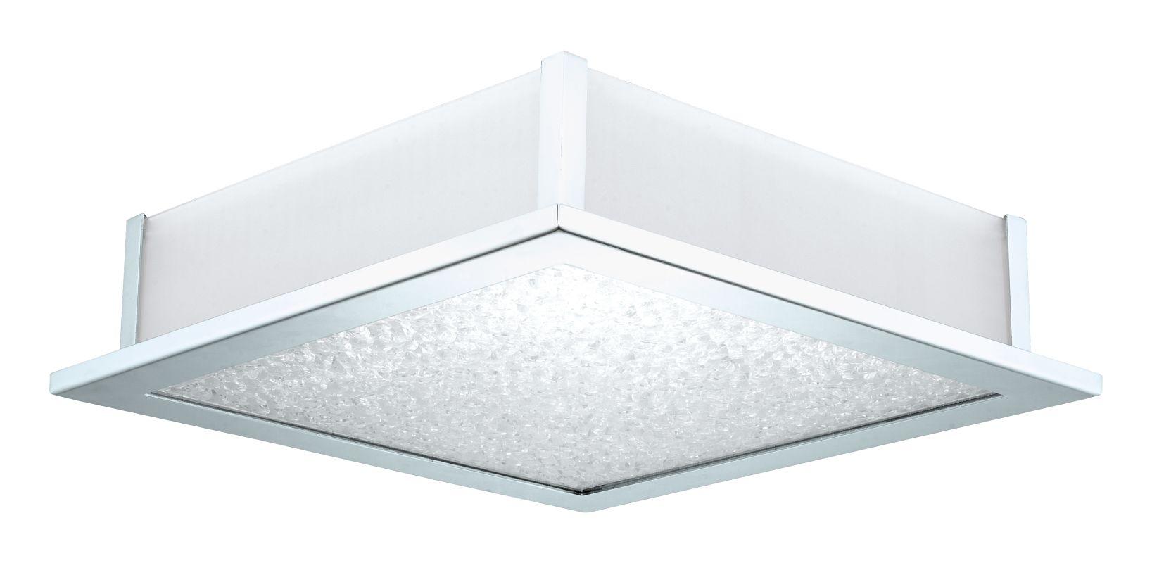 Eglo 92714 Auriga Crystal 5 Light Flush Mount Ceiling Fixture Chrome