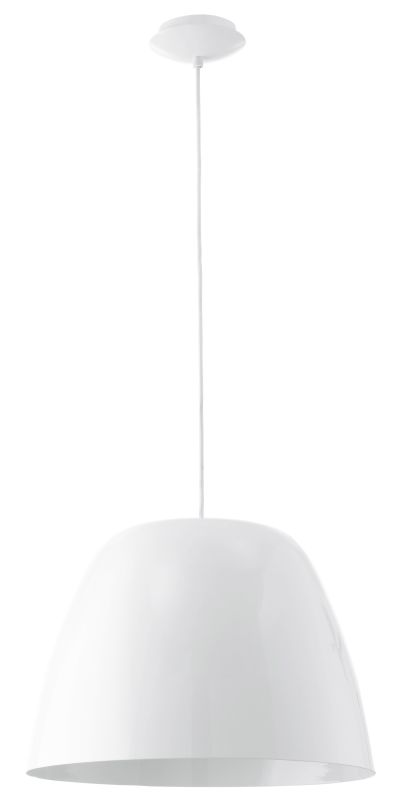 Eglo 92719 Coretto 1 Light Foyer Pendant with Dome Shade Steel /