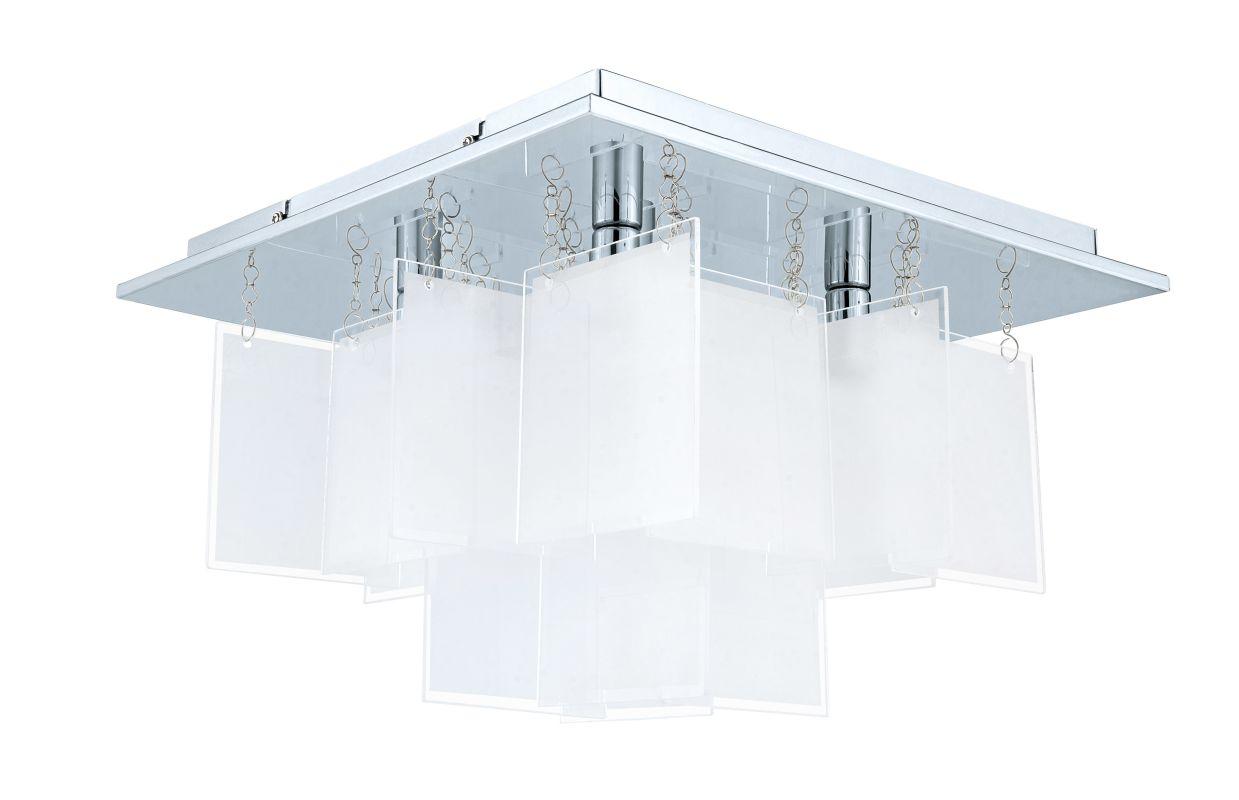 Eglo 92726 Condrata 1 5 Light Flush Mount Ceiling Fixture Chrome