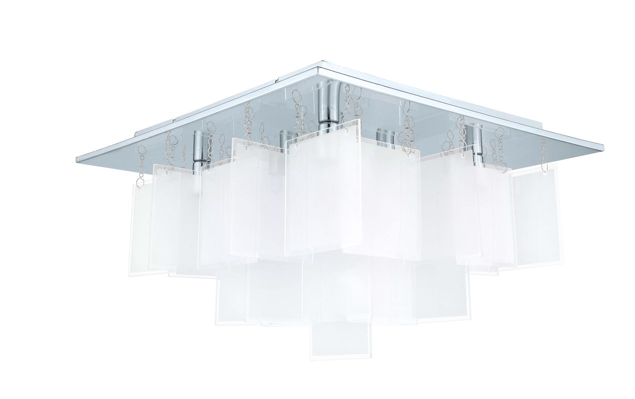 Eglo 92727 Condrata 1 8 Light Flush Mount Ceiling Fixture Chrome Sale $254.00 ITEM: bci2546145 ID#:92727A UPC: 9008606123124 :