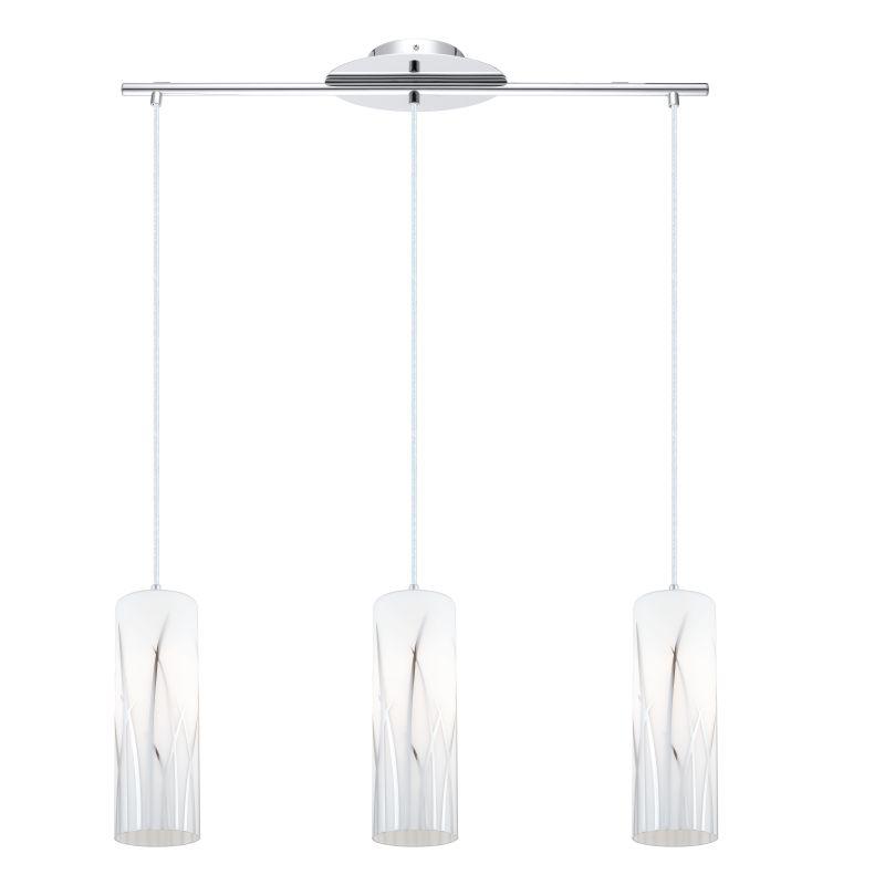 Eglo 92741 Rivato 3 Light Multi Light Pendant Chrome Indoor Lighting