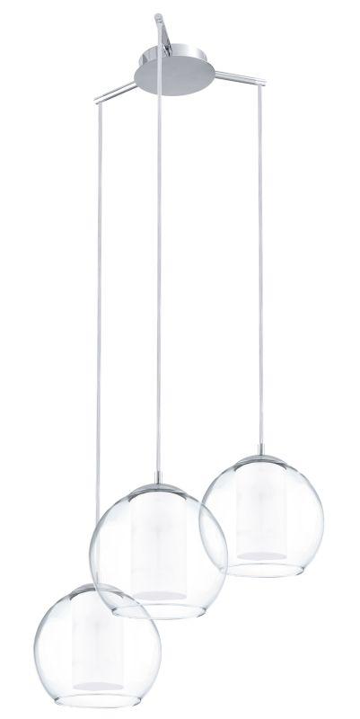 Eglo 92762 Bolsano 3 Light Multi Light Pendant Satin Nickel Indoor