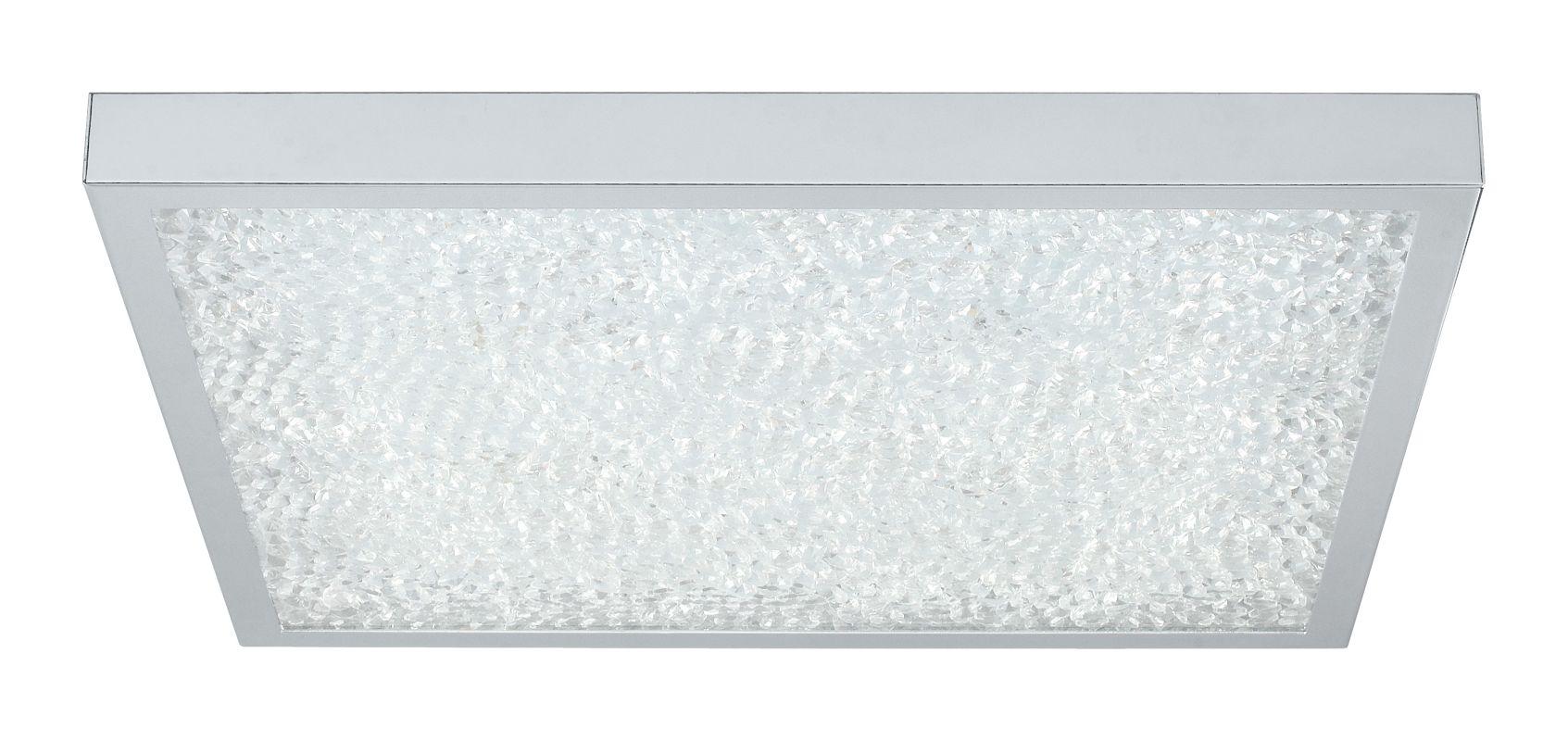 Eglo 92782 Cardito 2 Light LED Flush Mount Ceiling Fixture Chrome