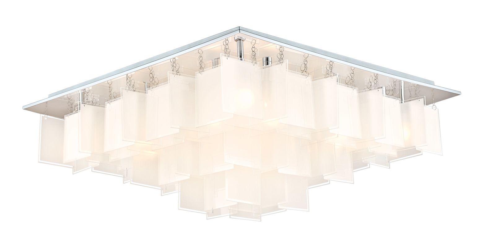 Eglo 92813 Condrata 1 16 Light Flush Mount Ceiling Fixture Chrome