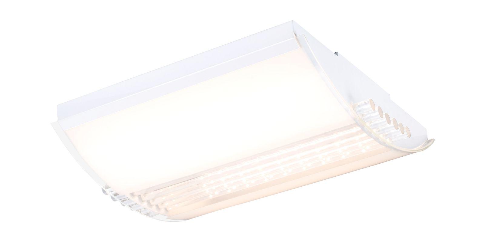 Eglo 93017 Grado 2 Light LED Flush Mount Ceiling Fixture White Indoor