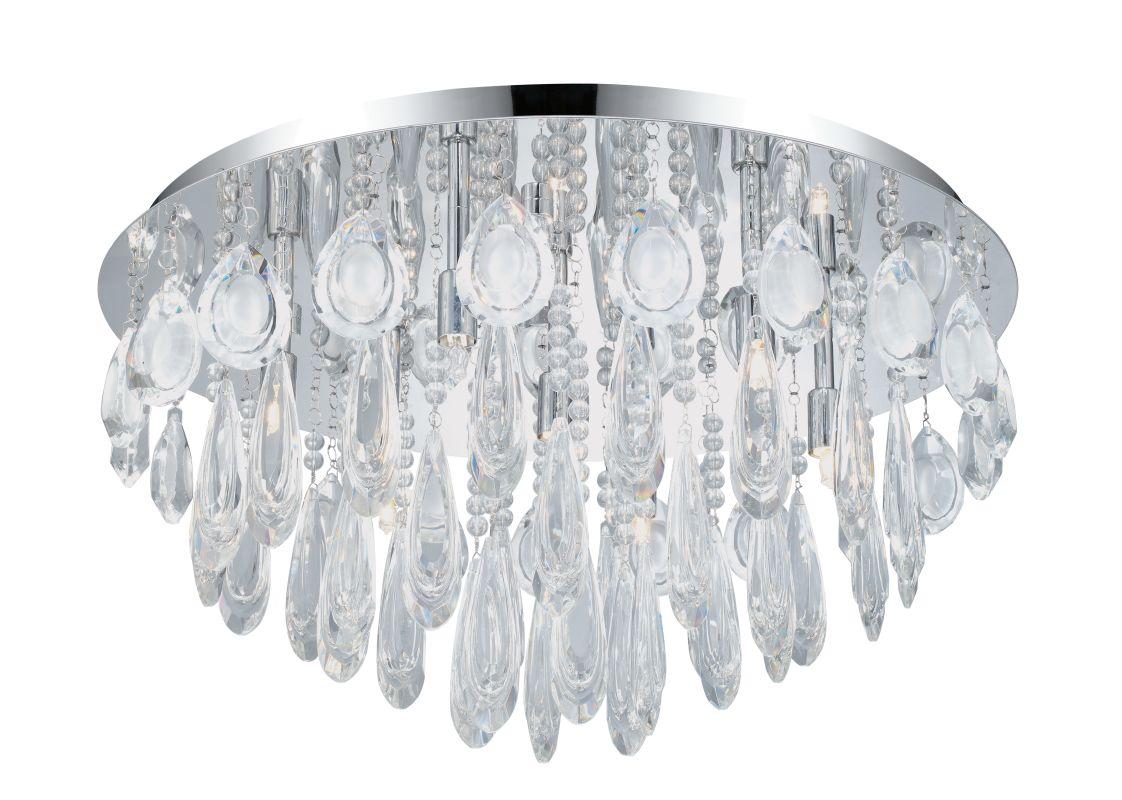Eglo 93413 Calaonda 7 Light Flush Mount Ceiling Fixture Chrome Indoor