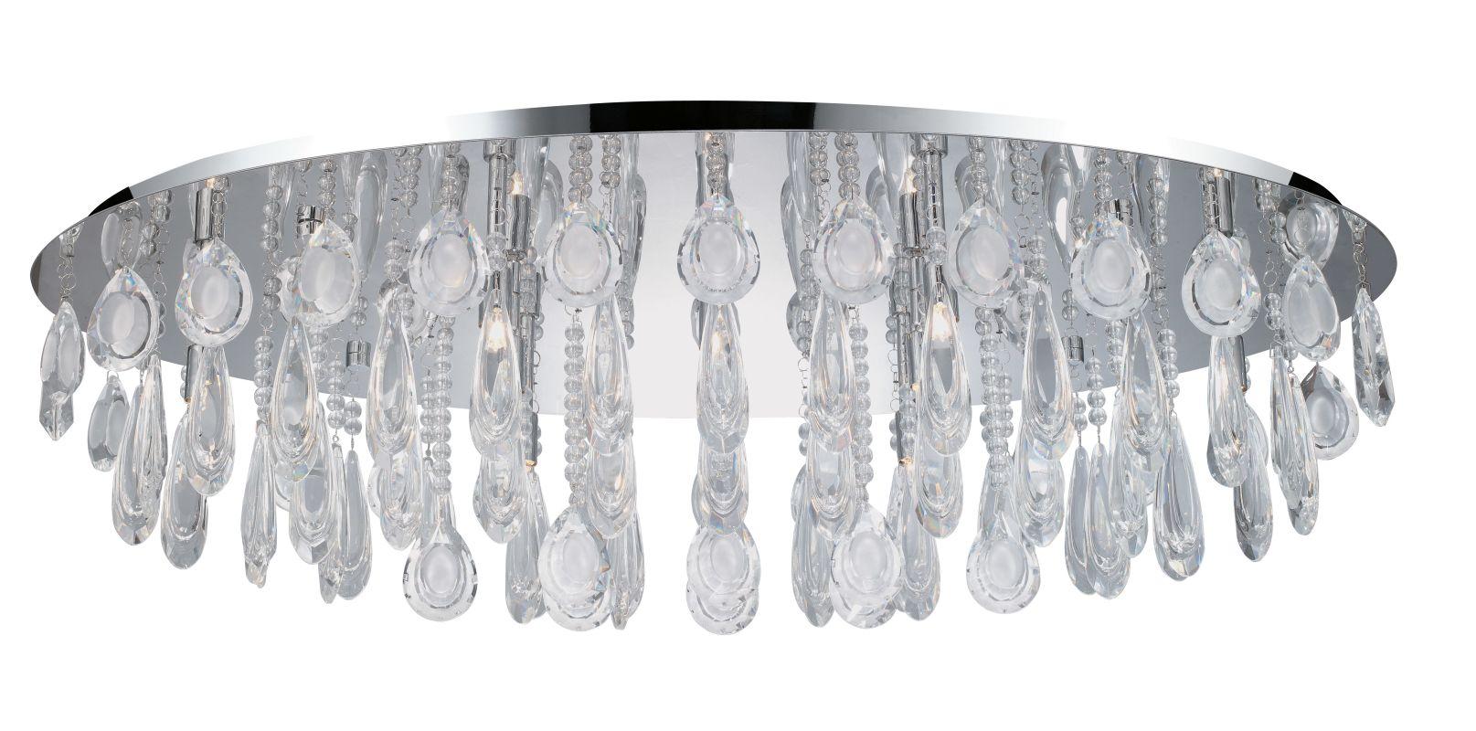 Eglo 93414 Calaonda 10 Light Flush Mount Ceiling Fixture Chrome Indoor