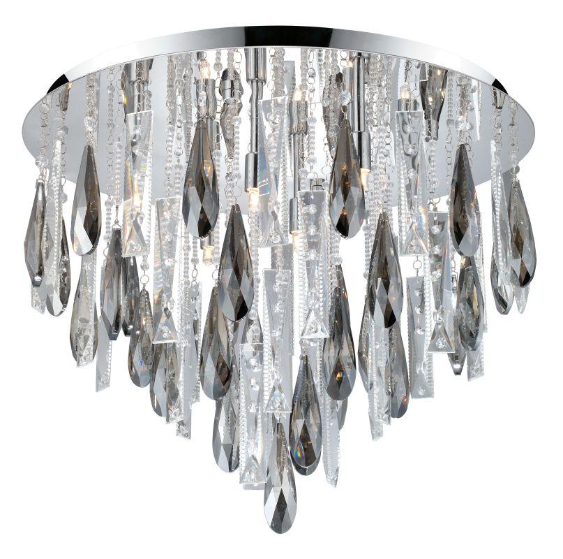 Eglo 93433 Calaonda 8 Light Flush Mount Ceiling Fixture Chrome Indoor