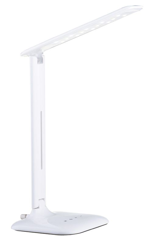 """Eglo 93965A Caupo 22"""" Tall Swing Arm LED Desk Lamp White Lamps Swing"""
