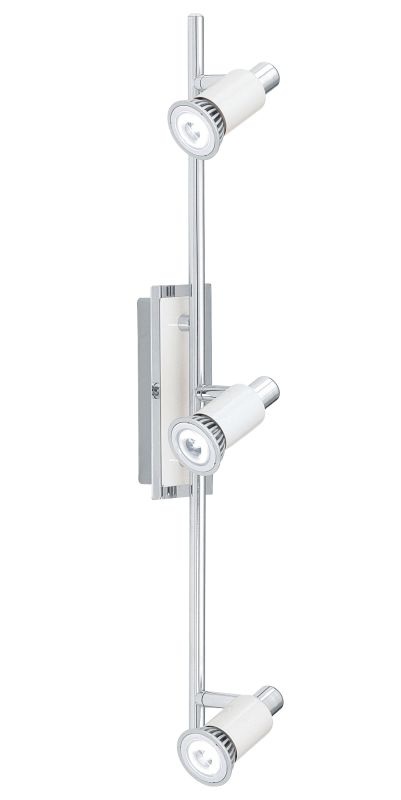 "Eglo 200097A Eridan 3 Light 23"" Tall Adjustable Track Light Chrome and"