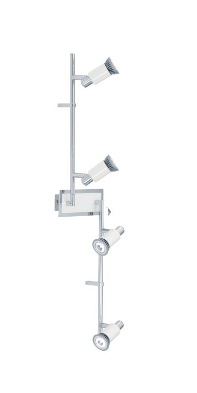 "Eglo 200099A Eridan 4 Light 35"" Tall Adjustable Track Light Chrome and"