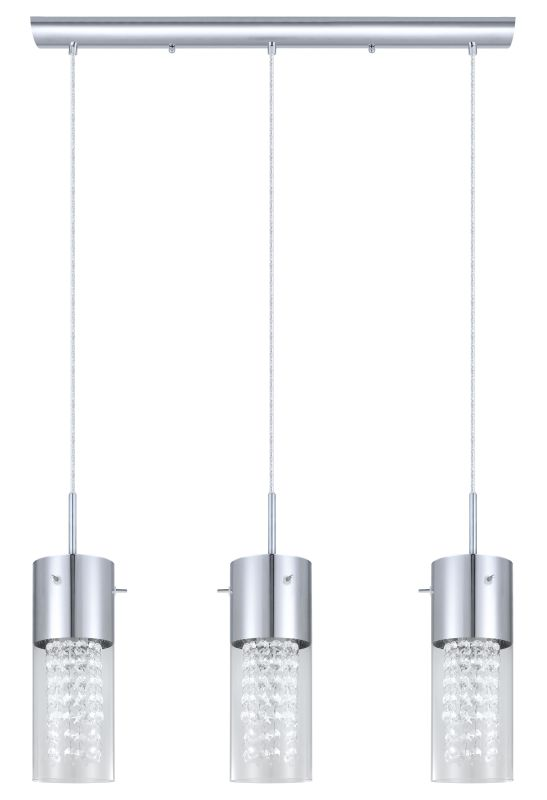 Eglo 200123A Diamond 3x60W Trestle Hanging Light in Chrome Finish