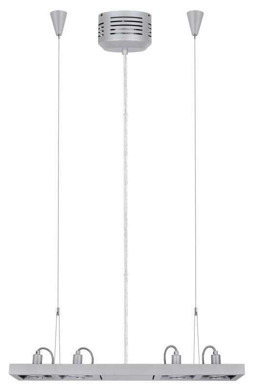 Eglo 20919A Vectus 4x50W Linear Chandelier in Silver Finish Silver