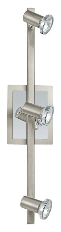 Eglo 20939A Rottelo 3x50W Track Light in Matte Nickel and Chrome
