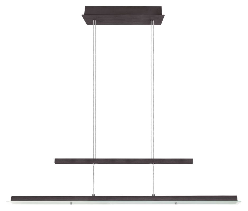 Eglo 20947A Rufo 1x36W LED Linear Adjustable Chandelier in Black and